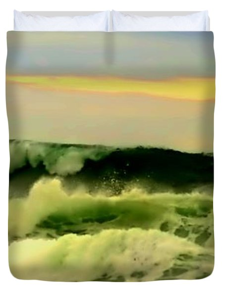 Turbulent Ocean Swell Duvet Cover