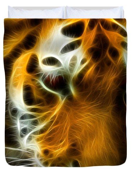 Turbulent Tiger Duvet Cover