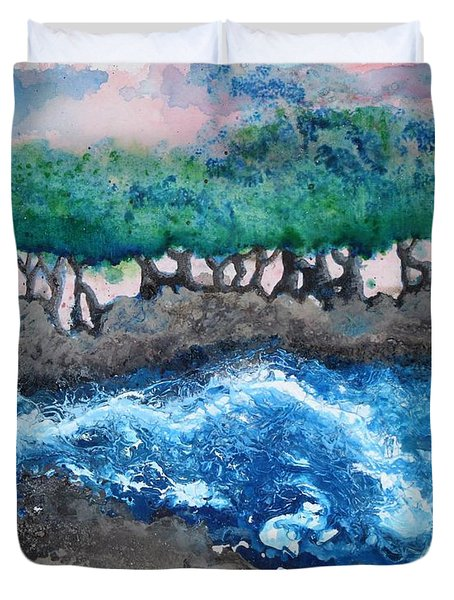 Turbulent Waters Duvet Cover