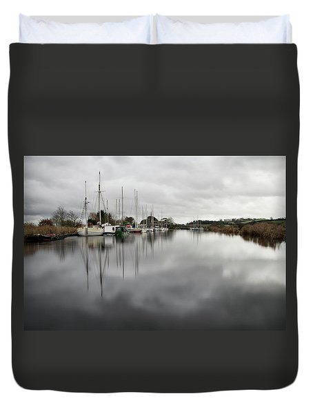 Turf Locks On Exeter Canal Duvet Cover