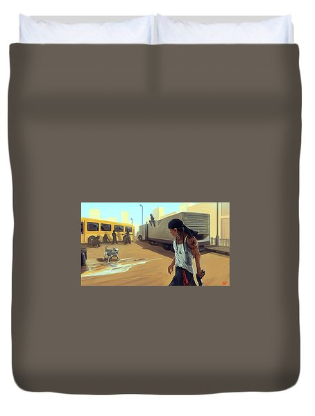 Turf War Duvet Cover