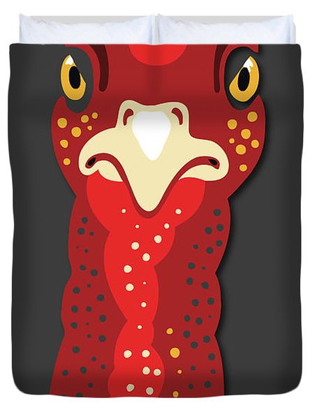 Turkey Stare Duvet Cover