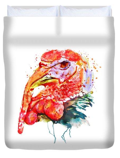 Turkey Head Duvet Cover by Marian Voicu