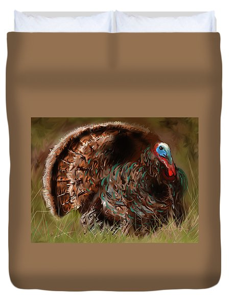 Turkey In The Straw Duvet Cover