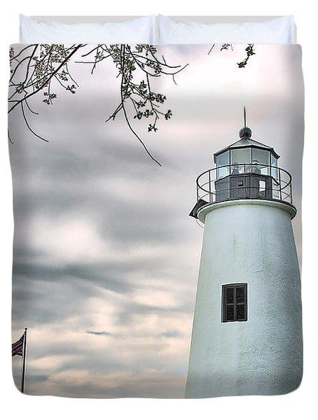 Turkey Point Lighthouse Duvet Cover