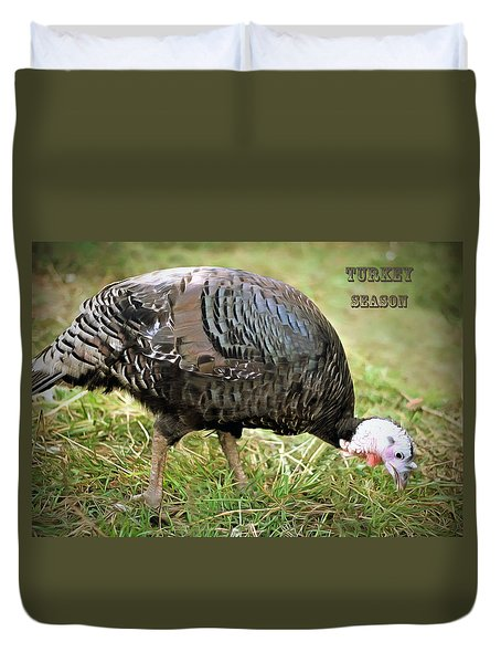 Turkey Season Duvet Cover by Marion Johnson