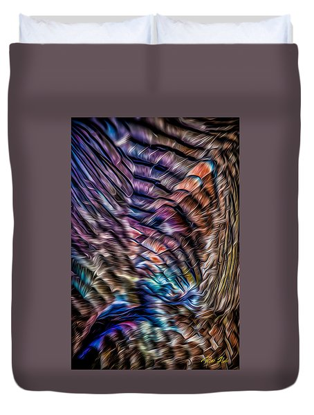 Duvet Cover featuring the photograph Turkey Sides by Rikk Flohr