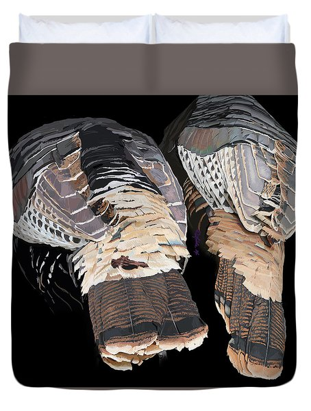 Turkey Tails Closeup Duvet Cover