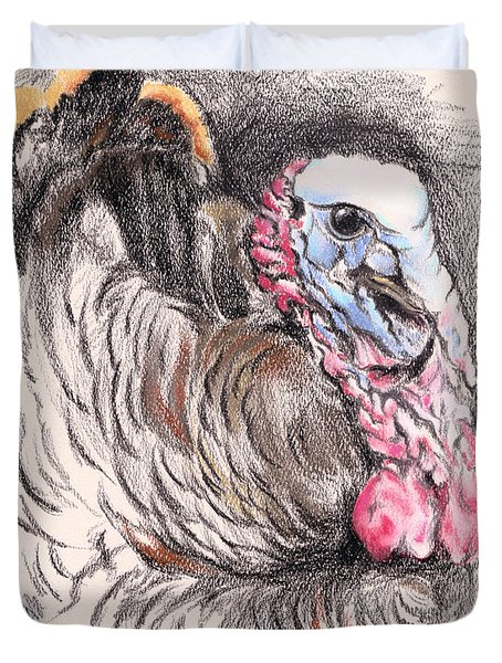 Turkey Tom Duvet Cover