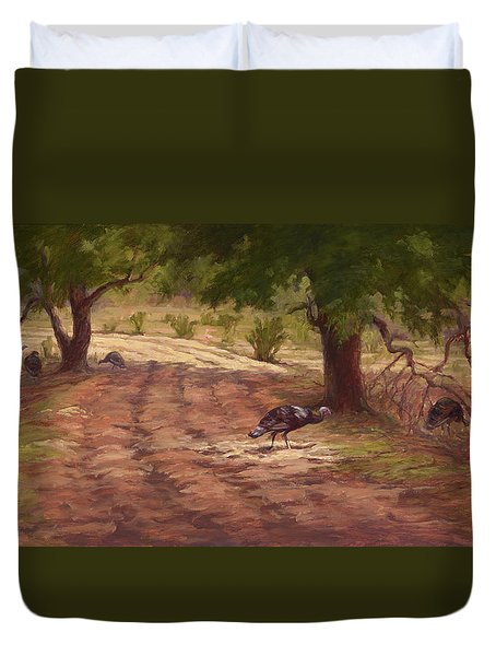 Turkey Tracks Duvet Cover