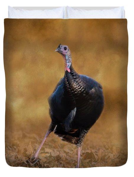 Turkey Trot Duvet Cover by Jai Johnson