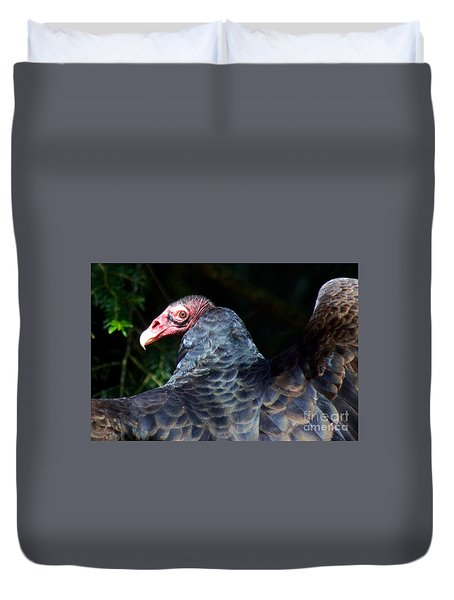 Turkey Vulture Duvet Cover by Sean Griffin