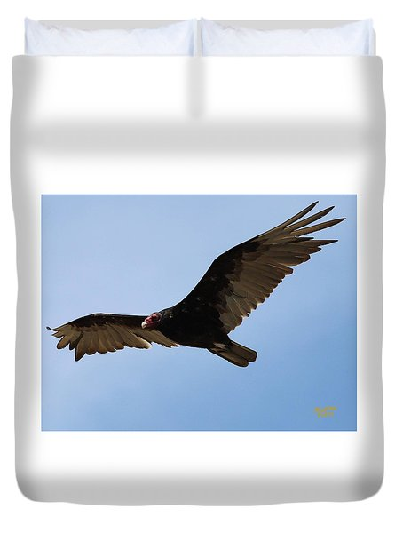 Turkey Vulture Soaring Duvet Cover