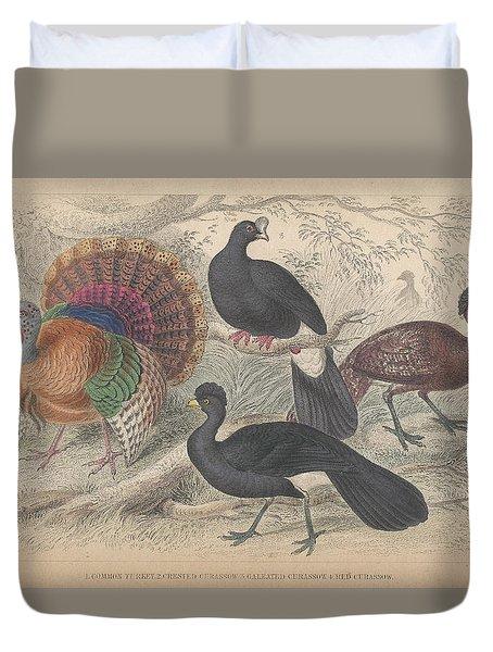Turkeys Duvet Cover by Anton Oreshkin