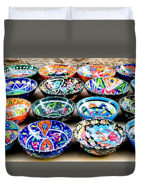Turkish Bowls Duvet Cover