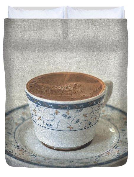 Turkish Coffee Duvet Cover by Taylan Apukovska