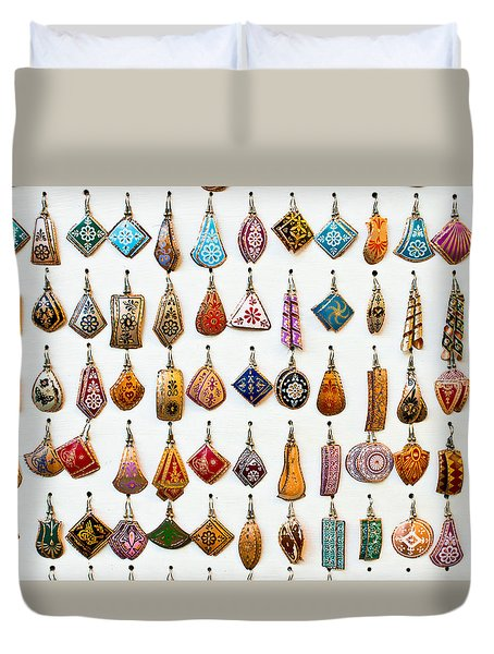Turkish Earrings Duvet Cover