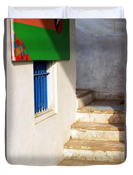 Duvet Cover featuring the photograph Turn Left by Prakash Ghai
