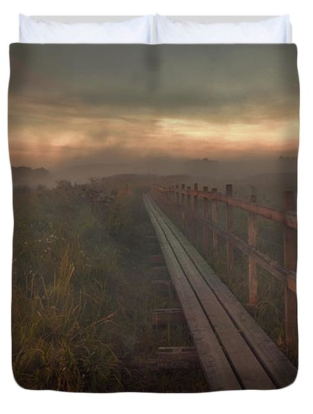 Duvet Cover featuring the photograph Turn To Infinity #g6 by Leif Sohlman