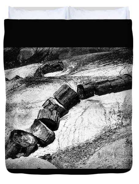 Duvet Cover featuring the photograph Turned To Stone by Paul W Faust - Impressions of Light