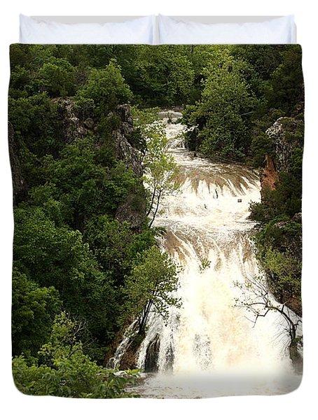Turner Falls Waterfall Duvet Cover