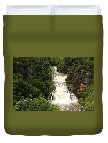 Turner Falls Waterfall Duvet Cover
