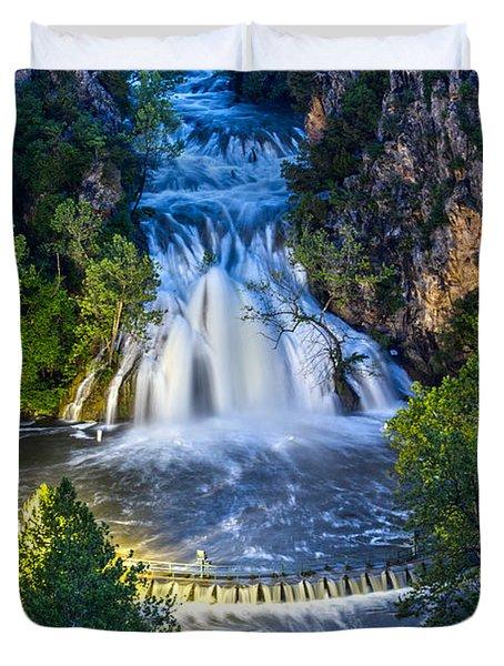 Turner Falls Oklahoma Duvet Cover