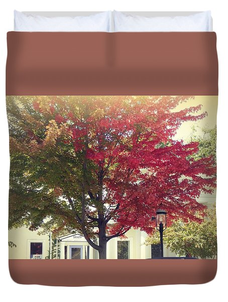 Turning A New Leaf Duvet Cover