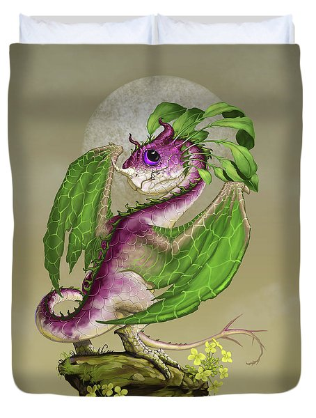 Duvet Cover featuring the digital art Turnip Dragon by Stanley Morrison