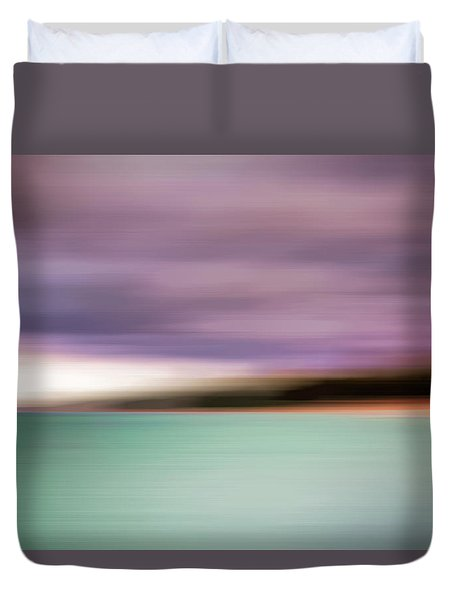 Duvet Cover featuring the photograph Turquoise Waters Blurred Abstract by Adam Romanowicz