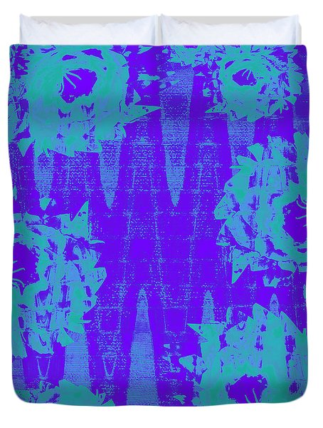 Turquoise And Purple Joy Duvet Cover