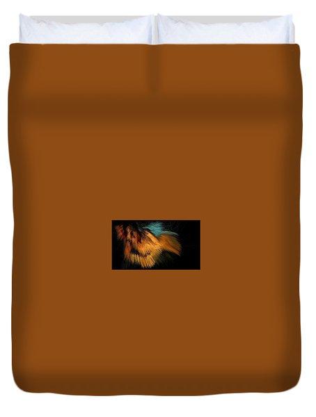 Turquoise Dunes Duvet Cover