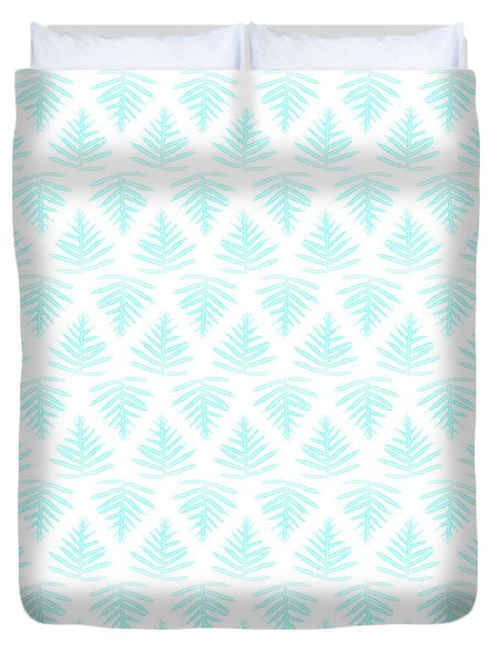 Turquoise Fern Array Small Duvet Cover