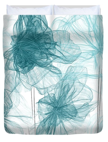 Turquoise In Sync Duvet Cover