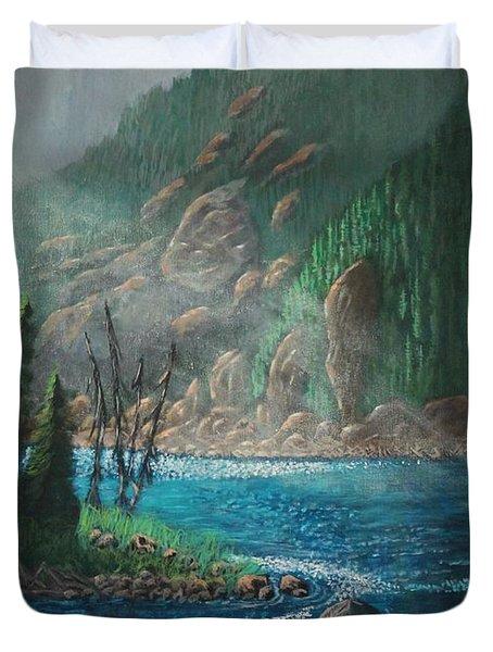 Turquoise River Duvet Cover