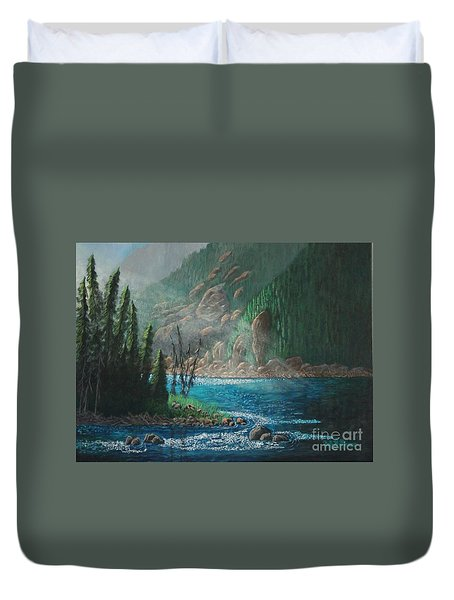 Turquoise River Duvet Cover