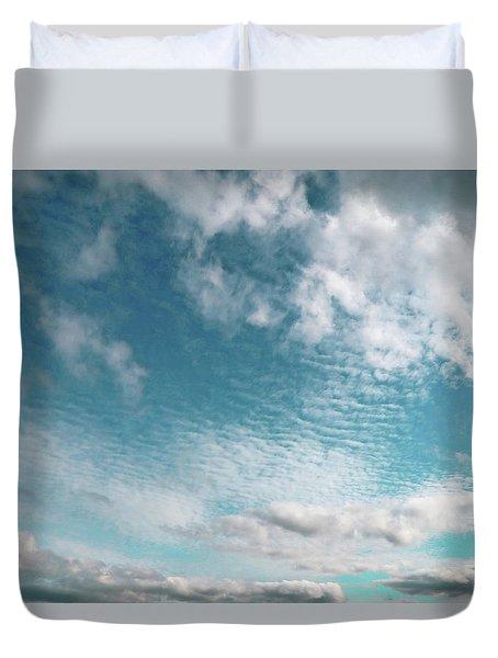 Turquoise Sky Duvet Cover