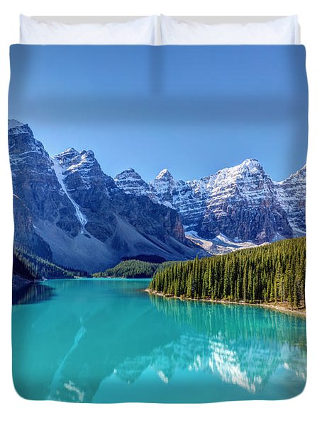 Turquoise Splendor Moraine Lake Duvet Cover