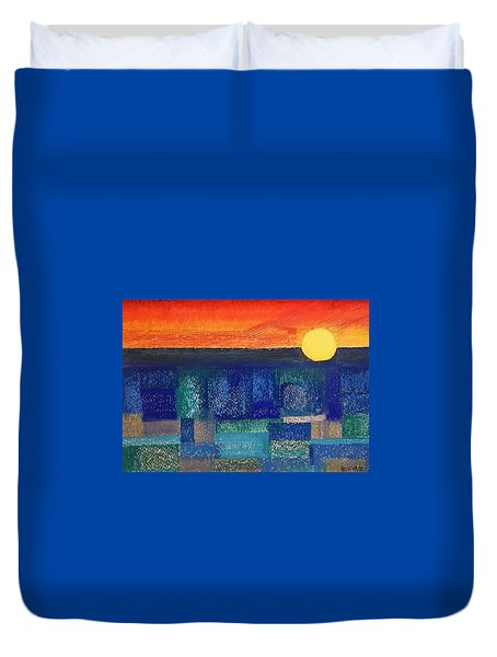 Turquoise Sunset Duvet Cover
