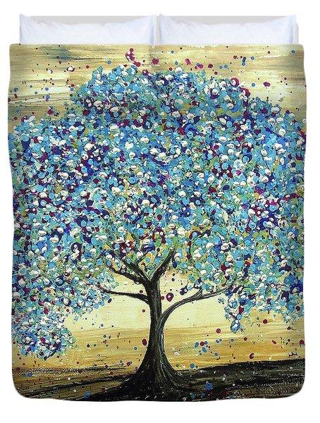 Turquoise Tree Duvet Cover