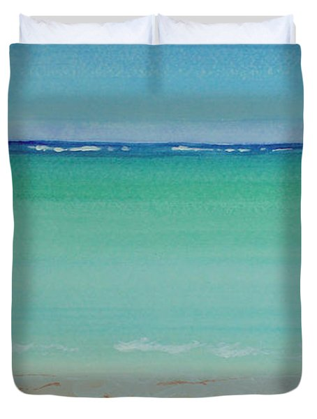 Turquoise Waters Long Abstract Duvet Cover