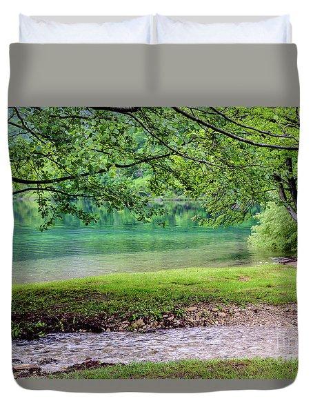 Turquoise Zen - Plitvice Lakes National Park, Croatia Duvet Cover
