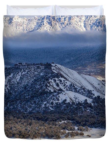 Turret Ridge In Winter Duvet Cover