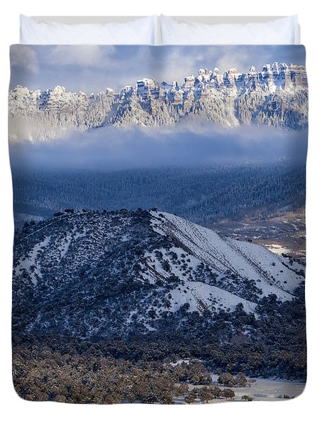 Turret Ridge In Winter Duvet Cover