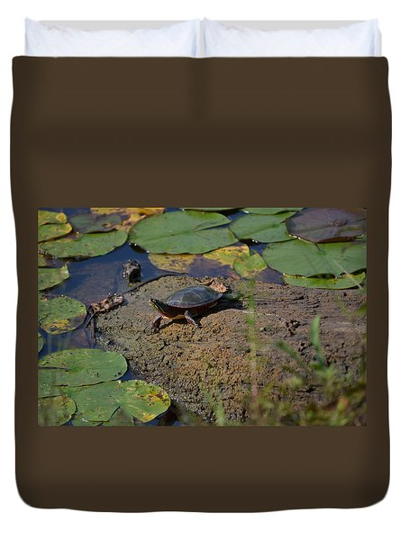 Turtle And Lily's Duvet Cover