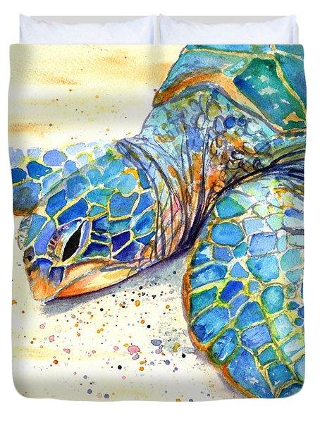 Turtle At Poipu Beach 4 Duvet Cover