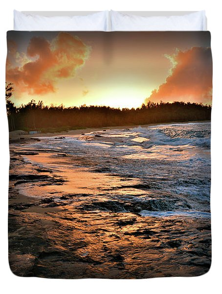 Turtle Bay Sunset 1 Duvet Cover