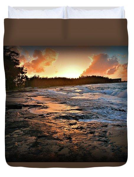 Turtle Bay Sunset 1 Duvet Cover
