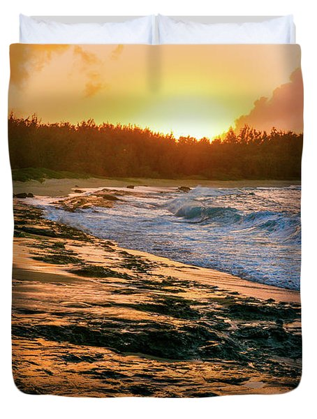 Turtle Bay Sunset 2 Duvet Cover