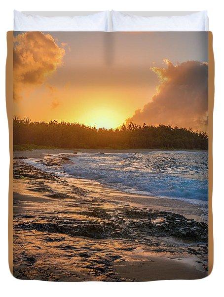 Turtle Bay Sunset 3 Duvet Cover